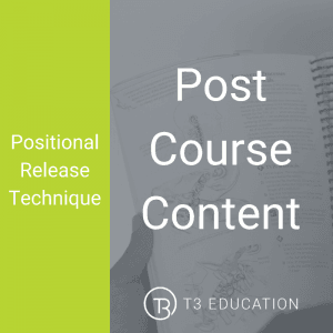 Positional Release Live CPD